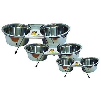 Wuapu Inox Double Feeder (Dogs , Bowls, Feeders & Water Dispensers)