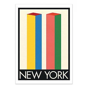 Arte-Cartel - Nueva York Twin Towers - Rosi Feist 50 x 70 cm