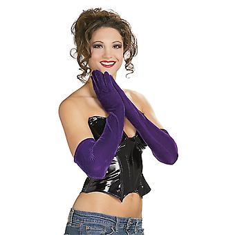 Bristol Novelty Womens/Ladies Long Velvet Feel Gloves