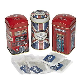 Heritage tea selection triple tea tins 28 teabag gift pack union jack