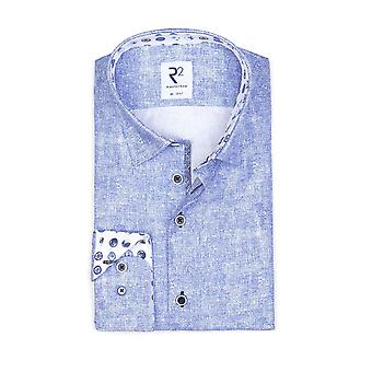 R2 Hidden Button Down Collar Long Sleeved Shirt Light Blue