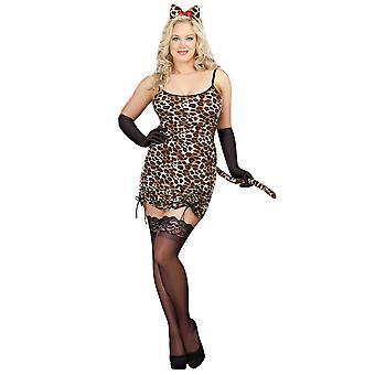 Plus Size Leopard Cat Costume