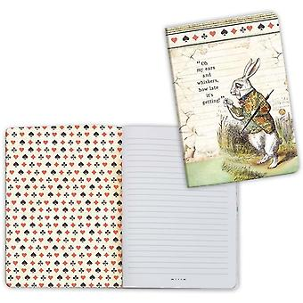 Stamperia Lined Notebook A6-White Rabbit, Alice