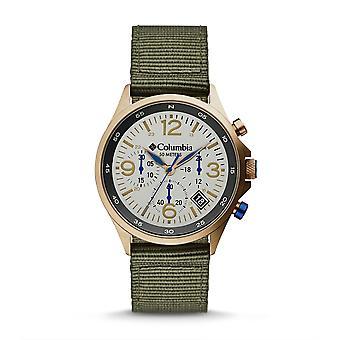 Columbia CSC02-004 Mens Canyon Ridge Green Strap Chrono Wristwatch