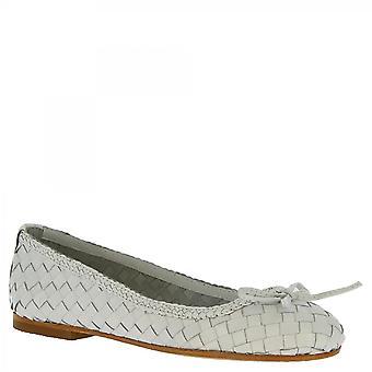 Chaussures Leonardo Chaussures Chaussures Chaussures Femmes-apos;s chaussures plates de ballet faits à la main en cuir de veau tissé blanc