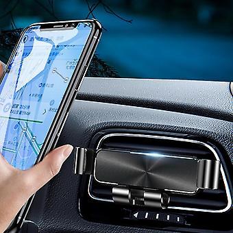 Bakee metalen mini zwaartekracht koppeling automatische lock air vent auto telefoon houder auto mount 4.0-6.5 inch smartphone voor iPhone 11 voor Samsung Note 10 xiaomi
