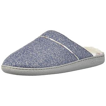 Dearfoams DF Women's Casual Knit Scuff Slipper, Indigo, M Medium US