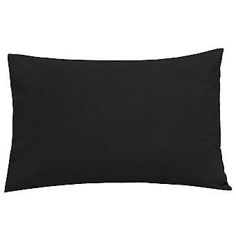 Easy Care Hausfrau Kissenbezug paar schwarz