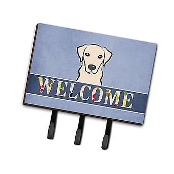 Carolines Treasures  BB1408TH68 Yellow Labrador Welcome Leash or Key Holder