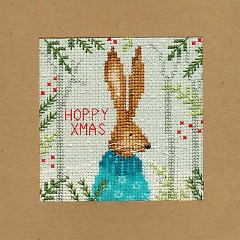 Bothy Threads Cross Stitch Card Kit - Xmas Hare