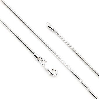 Cadena de plata cadena de serpiente 925 plata 55 cm (No.: MKE 02-55)