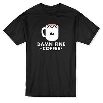 &Damn Fine Coffee&Quote Tribal Patterns Muki Miesten's T-paita