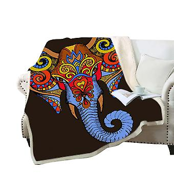 3D الفيل المطبوعة بطانية البوليستر متعددة الأغراض بطانية عالية الجودة
