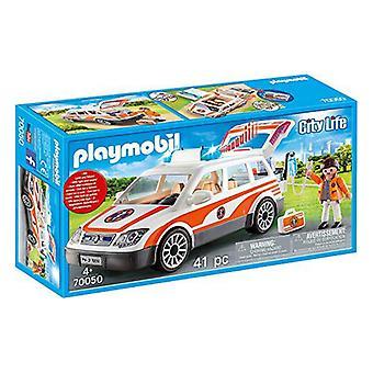 Playset City Life De urgență Auto Playmobil 70050 (41 buc)