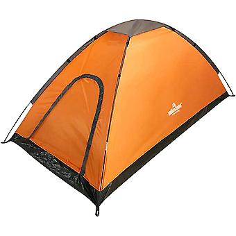 Milestone Waterproof 2 Man Dome Tent Orange