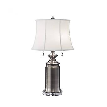 Stateroom Lamp, Antique Nickel, With Lampshade