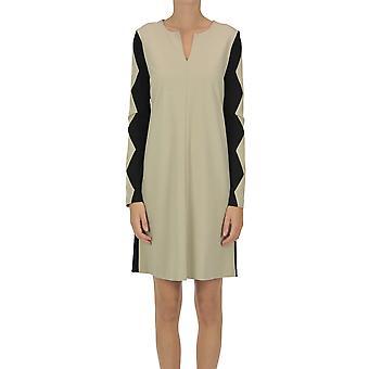 One Ezgl335033 Women's Beige Viscose Dress