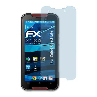 atFoliX Glass Protector compatible with Cubot Quest Lite Glass Protective Film 9H Hybrid-Glass