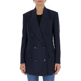 Valentino Ub3ce1w53h1598 Damen's Blauer Wollblazer