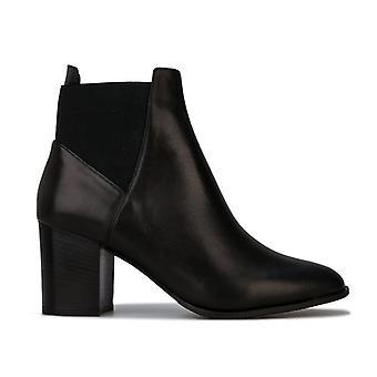 Women's Karen Millen Toni Mid Leather Boots in Black