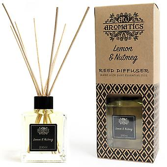 Lemon & Nutmeg Essential Oil Reed Diffuser 200ml