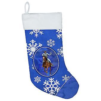 Horse Roper Winter Snowflakes Holiday Christmas Stocking