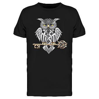 Celtic Owl Design Tee Men's -Image door Shutterstock