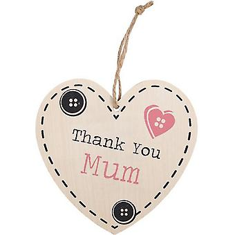 Something Different Thank You Mum Hanging Heart Sign