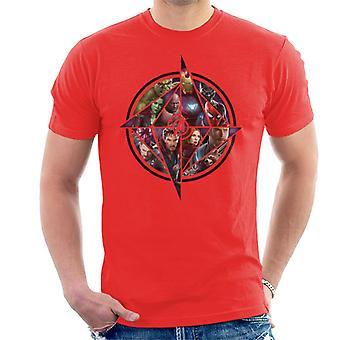 Marvel Avengers Infinity Krieg Charakter Montage Herren T-Shirt