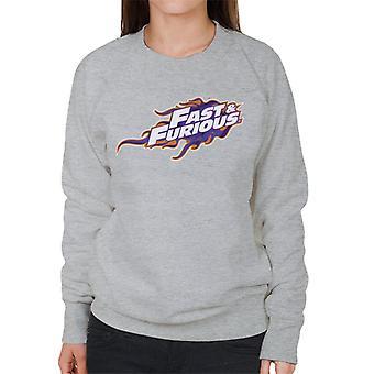 Fast and Furious Orange Purple Logo Women's Sweatshirt