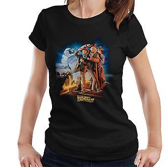 Powrót do przyszłości III Znaków Wydostać się z Delorean Women's T-Shirt