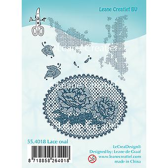 Leane Creatief Lace Oval Clear Stamp
