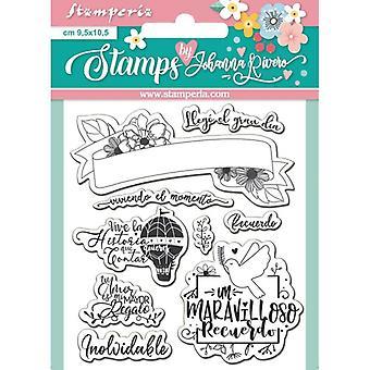 Stamperia Recuerdo klare Briefmarken