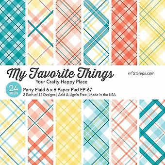 My Favorite Things Party Plaid 6x6 Inch Paper Pad