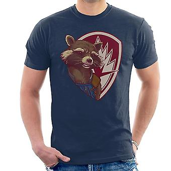 Marvel Guardians Of The Galaxy Vol 2 Rocket Raccoon Shield Men's T-Shirt