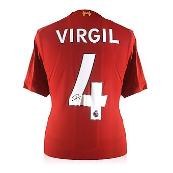 Virgil Van Dijk Signed Liverpool Shirt