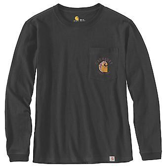 Carhartt Women's Long Sleeve Shirt Workwear Graphic Back Pocket