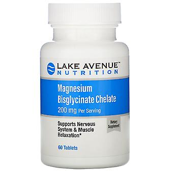 Lake Avenue Nutrition, Magnesium Bisglycinate Chelate, 200 mg, 60 Tablets