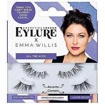 Cílios Postiços Eylure x Emma Willis - Todos os Ases - Adesivo de Cílios Incluídos