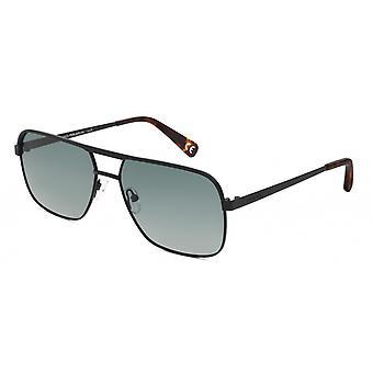 Sunglasses Men's Cooper Men's Polarized Matte Black with Green Lens (pcoo76)