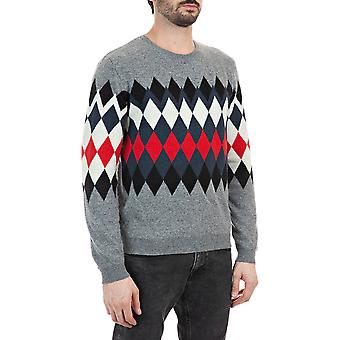 Replay Men's Diamonds-Shaped Embroideries Sweater Regular Fit