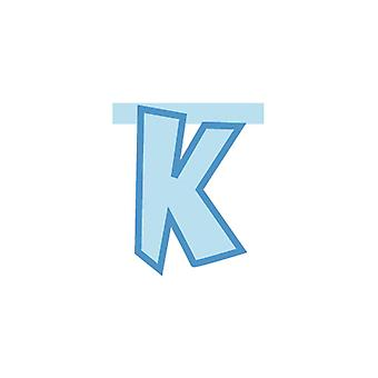 Linking Banner 20cm Baby Blue Letter - K Party Decoration