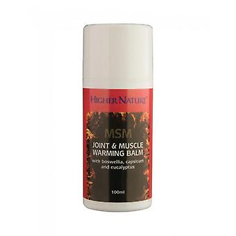 Higher Nature MSM Joint & Muscle Balm 100ml (MSB100)