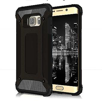 Shell for Samsung Galaxy S6 Edge Armor Black Protection Case