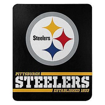 Pittsburgh Steelers NFL Northwest Split Wide Fleece Throw