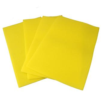 4 x Sponge Mats for Refrigerator Drawer Light Yellow