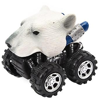 Mini Animal Head Design-pull Back Cars With Big Tire