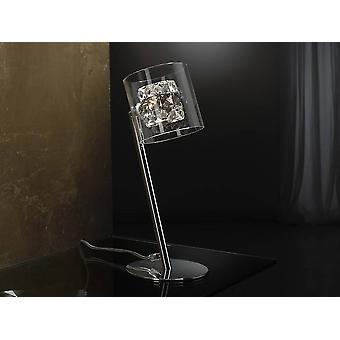 Lâmpada de mesa de cristal cromada, G9