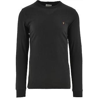 Farah Black Worthington Lange Mouw T-shirt