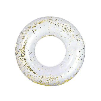 55cm Gold Crystal Sequin Interior Swim Ring Water Toy